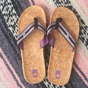 Mens Pink Flamingo Flip Flops Flip Sandals Bioworld L Large 10-11